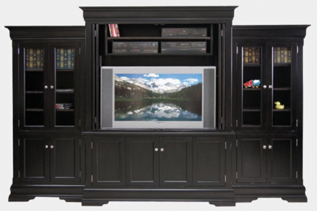Phillipe 4 Piece Entertainment Wall System Lloyd 39 S Mennonite Furniture Gallery Solid Wood