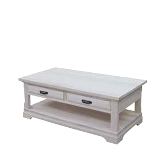 Map Drawer Coffee Table: Chateau 2 Drawer Coffee Table