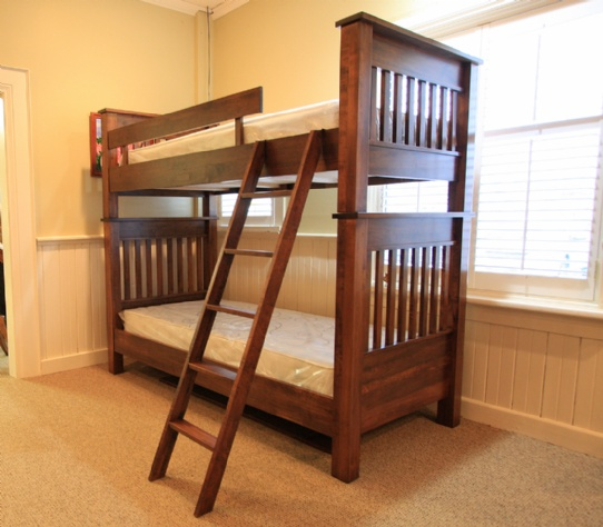 Wormy Maple Cottage Single over Single Bunk Bed Mennonite Furniture Ontario at Lloyd's Furniture Gallery in Schomberg