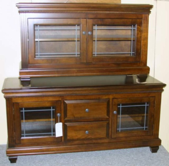 Maple Florentino Mennonite TV Stands Mennonite Furniture Ontario at Lloyd's Furniture Gallery in Schomberg
