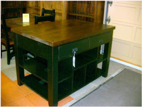 Wormy Maple Mennonite Kitchen Island Mennonite Furniture Ontario at Lloyd's Furniture Gallery in Schomberg