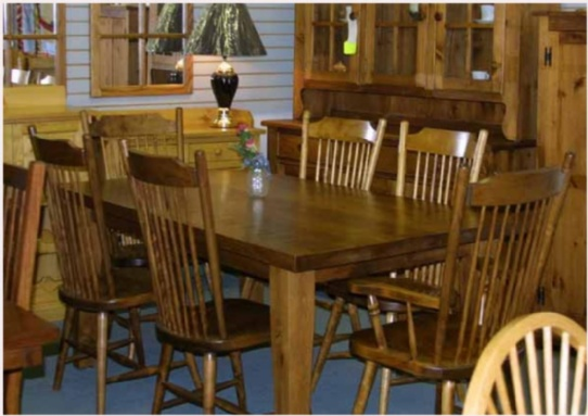 Rustic Mennonite Harvest Barn Board Table & Chairs Mennonite Furniture Ontario at Lloyd's Furniture Gallery in Schomberg