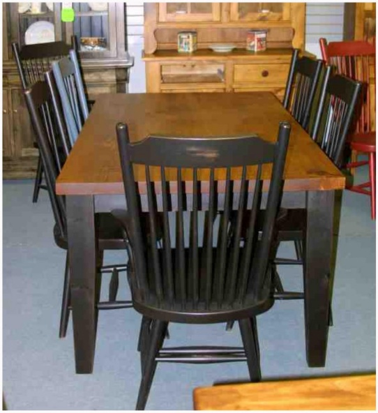 Rustic Mennonite Pine Barn Board Table Set Mennonite Furniture Ontario at Lloyd's Furniture Gallery in Schomberg