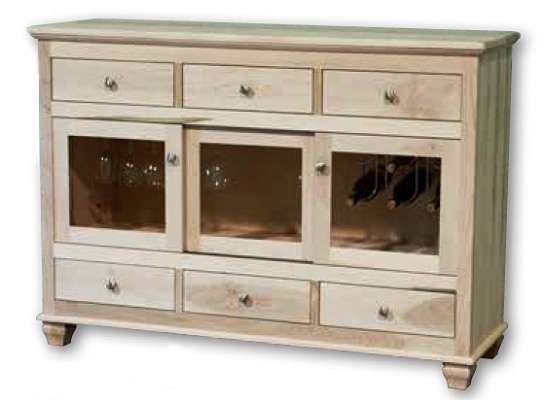 Barcelona Sideboard with Sliding Doors Mennonite Furniture Ontario at Lloyd's Furniture Gallery in Schomberg
