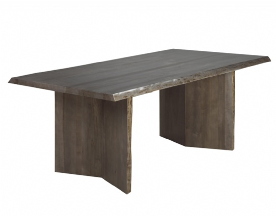 Arcadia Live Edge Double Pedestal Table Mennonite Furniture Ontario at Lloyd's Furniture Gallery in Schomberg