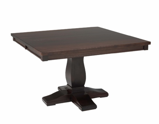 Barcelona Single Pedestal Table Mennonite Furniture Ontario at Lloyd's Furniture Gallery in Schomberg