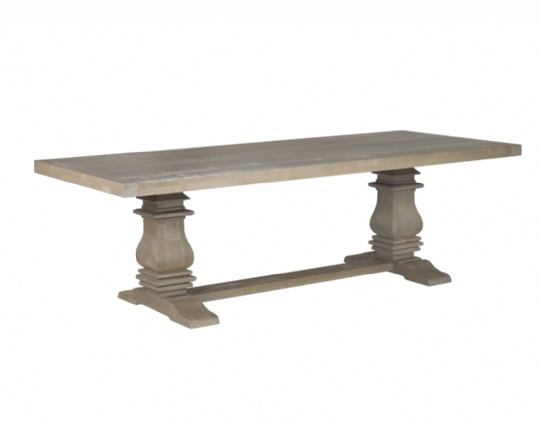 Black Sea Double Pedestal Table Mennonite Furniture Ontario at Lloyd's Furniture Gallery in Schomberg