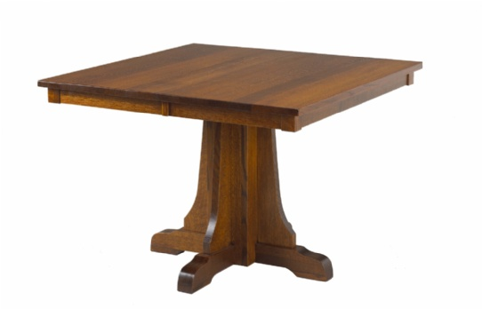 Eastwood Mission Single Pedestal Table Mennonite Furniture Ontario at Lloyd's Furniture Gallery in Schomberg