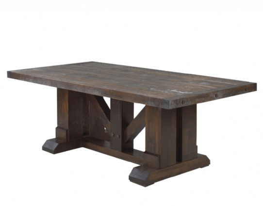 Grimshaw Hall Double Pedestal Table Mennonite Furniture Ontario at Lloyd's Furniture Gallery in Schomberg