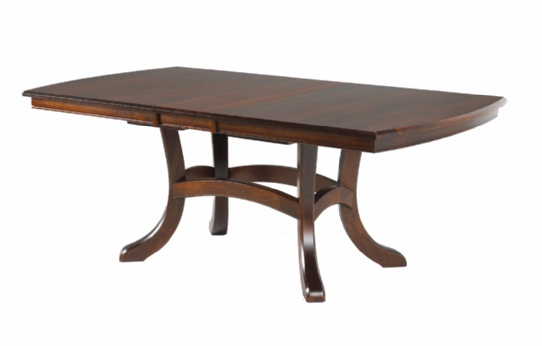Jordan Double Pedestal Table Mennonite Furniture Ontario at Lloyd's Furniture Gallery in Schomberg