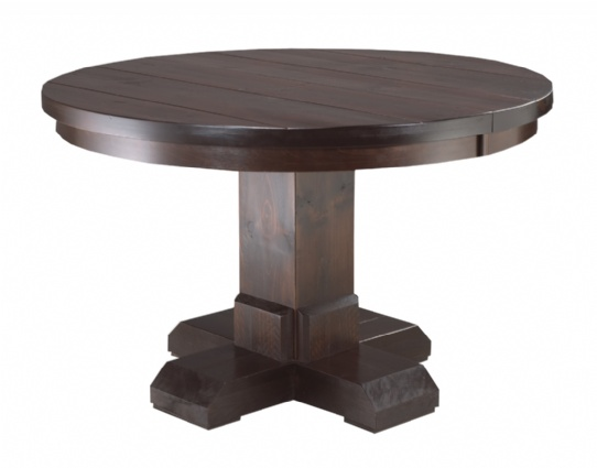 Shrewsbury Single Pedestal Table Mennonite Furniture Ontario at Lloyd's Furniture Gallery in Schomberg