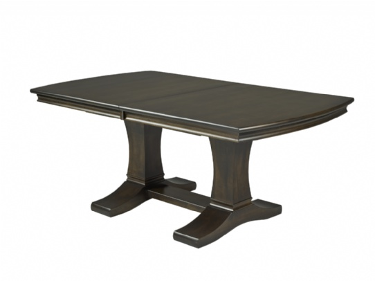 Singapore Double Pedestal Table Mennonite Furniture Ontario at Lloyd's Furniture Gallery in Schomberg