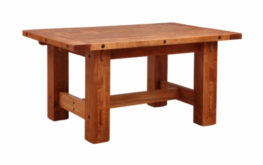 Hoover Timber Table Mennonite Furniture Ontario at Lloyd's Furniture Gallery in Schomberg
