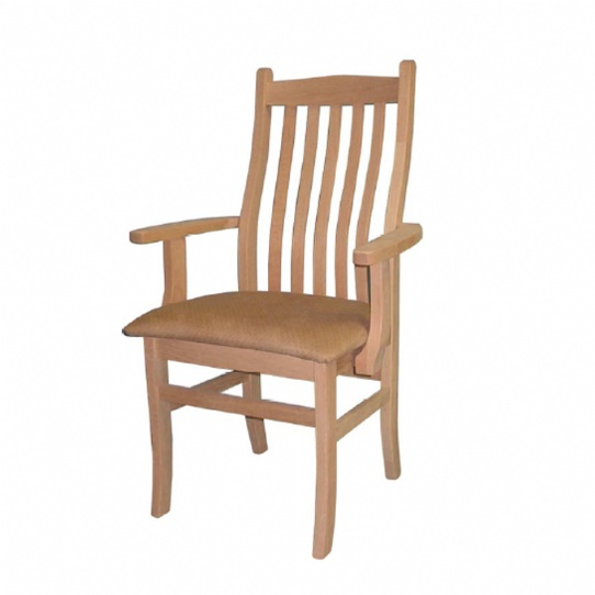 Mini Contour Mission Arm Chair Mennonite Furniture Ontario at Lloyd's Furniture Gallery in Schomberg