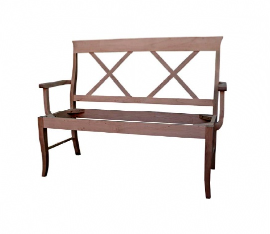 X-Back Bench Mennonite Furniture Ontario at Lloyd's Furniture Gallery in Schomberg