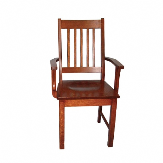 Mini Mission Arm Chair Mennonite Furniture Ontario at Lloyd's Furniture Gallery in Schomberg