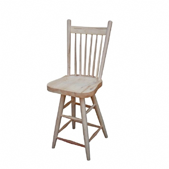 Rustic Farmhouse Bar Stool Mennonite Furniture Ontario at Lloyd's Furniture Gallery in Schomberg