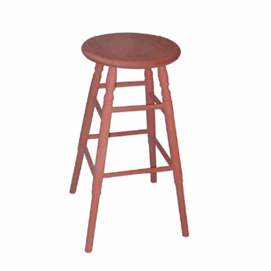Round Bar Stool with Turned Legs Mennonite Furniture Ontario at Lloyd's Furniture Gallery in Schomberg