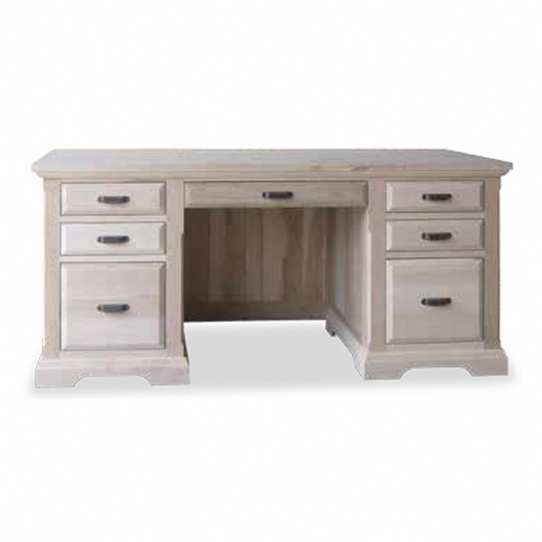 Chateau Executive Desk Mennonite Furniture Ontario at Lloyd's Furniture Gallery in Schomberg