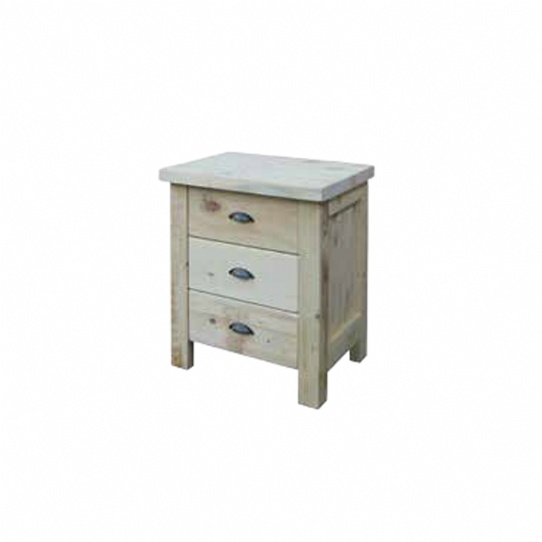 Frontier 3 Drawer Night Stand Mennonite Furniture Ontario at Lloyd's Furniture Gallery in Schomberg