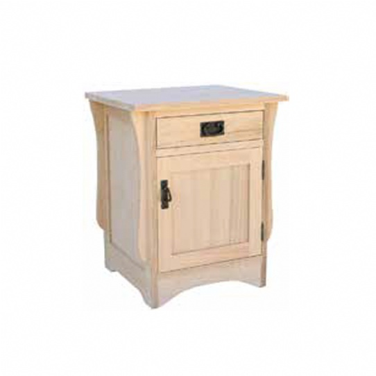 Mission 1 Drawer 1 Door Night Stand Mennonite Furniture Ontario at Lloyd's Furniture Gallery in Schomberg