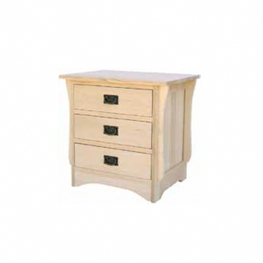 Mission 3 Drawer Night Stand Mennonite Furniture Ontario at Lloyd's Furniture Gallery in Schomberg