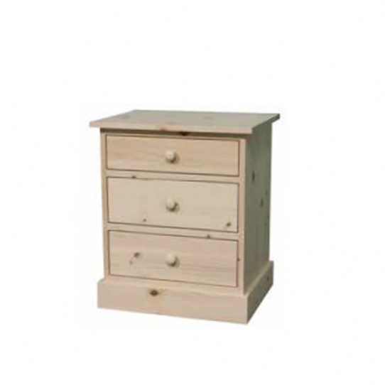 Cottage 3 Drawer Night Stand Mennonite Furniture Ontario at Lloyd's Furniture Gallery in Schomberg