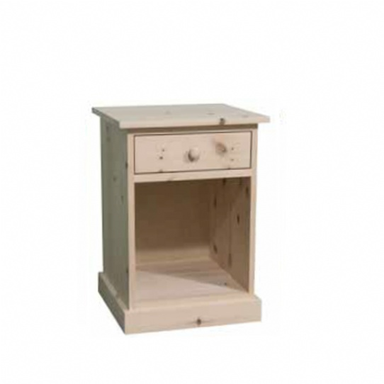 Cottage 1 Drawer Open Night Stand Mennonite Furniture Ontario at Lloyd's Furniture Gallery in Schomberg