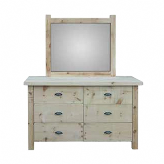 Frontier 6 Drawer Dresser Mennonite Furniture Ontario at Lloyd's Furniture Gallery in Schomberg