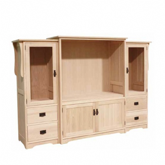 Mission 3 Piece TV Unit Mennonite Furniture Ontario at Lloyd's Furniture Gallery in Schomberg