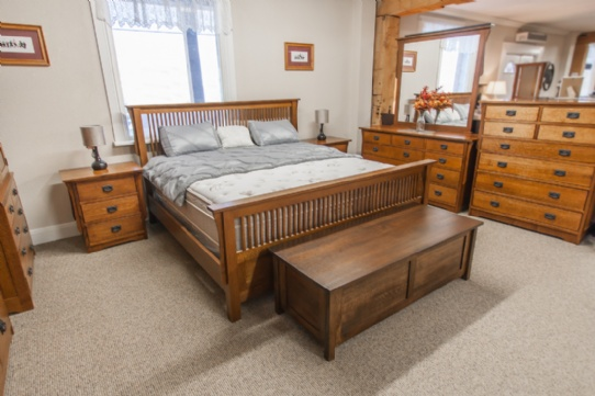 Mission 1/4 Cut Oak 7 Piece  Bedroom Suite Mennonite Furniture Ontario at Lloyd's Furniture Gallery in Schomberg