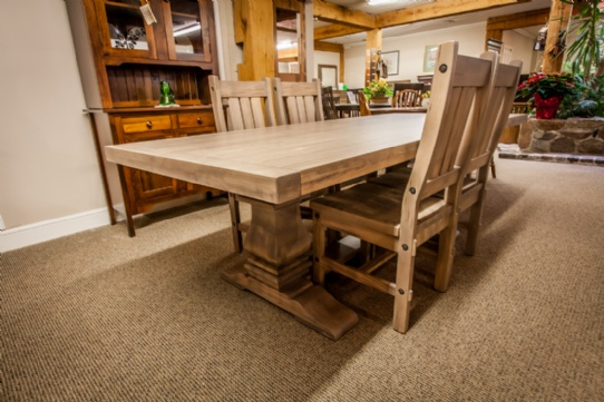 Grimshaw Double Pedestal Table Mennonite Furniture Ontario at Lloyd's Furniture Gallery in Schomberg