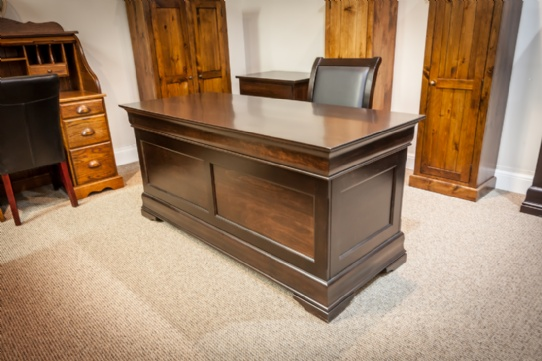 Maple Phillipe Office Desk With Chair Mennonite Furniture Ontario at Lloyd's Furniture Gallery in Schomberg