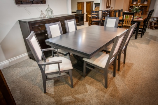 Maple Metro Table with Contempo Chairs Mennonite Furniture Ontario at Lloyd's Furniture Gallery in Schomberg