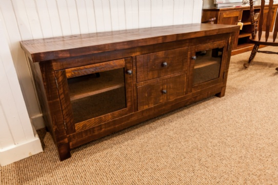 Rustic Pine Frontier Entertainment Unit Mennonite Furniture Ontario at Lloyd's Furniture Gallery in Schomberg
