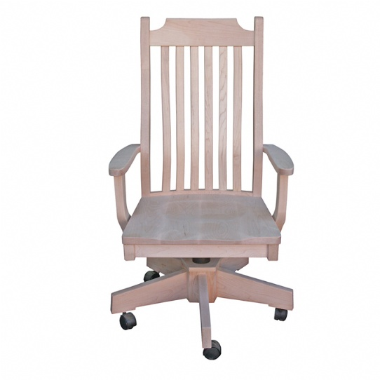 Dickson Mission Office Chair Mennonite Furniture Ontario at Lloyd's Furniture Gallery in Schomberg
