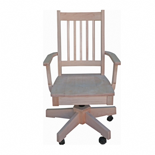 Mini Mission Office Chair Mennonite Furniture Ontario at Lloyd's Furniture Gallery in Schomberg