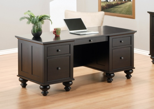 Georgetown Executive Desk Mennonite Furniture Ontario at Lloyd's Furniture Gallery in Schomberg