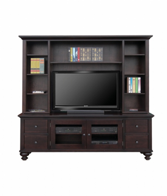 Georgetown TV Console with Hutch Mennonite Furniture Ontario at Lloyd's Furniture Gallery in Schomberg