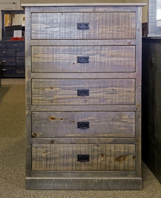 Pioneer 5 Drawer Hiboy Mennonite Furniture Ontario at Lloyd's Furniture Gallery in Schomberg