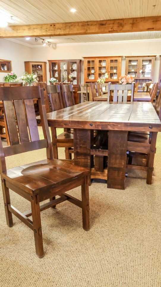 Stokenham Table with Timber Chairs Mennonite Furniture Ontario at Lloyd's Furniture Gallery in Schomberg