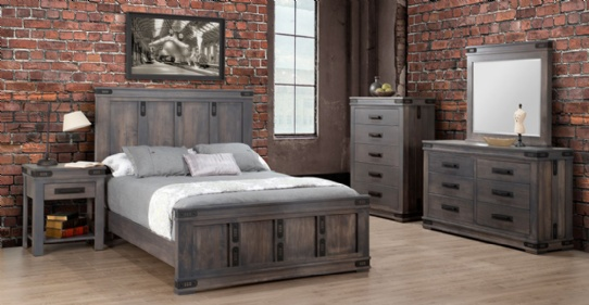 Gastown Bedroom Suite Mennonite Furniture Ontario at Lloyd's Furniture Gallery in Schomberg