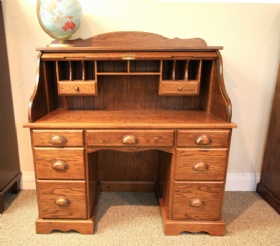 Mennonite Roll Top Office Desk -