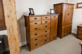 Mission 1/4 Cut Oak 7 Piece  Bedroom Suite -