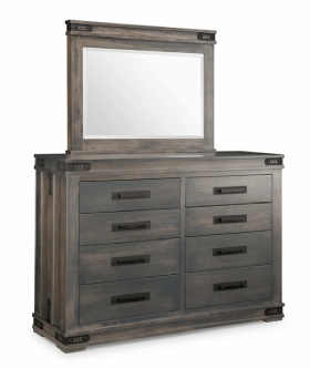 Gastown Bedroom Suite - Gastown 8 Drawer Hiboy with mirror